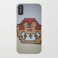 donkey kong iPhone & iPod Cases featuring Retro Donkey Kong by RaieshaM
