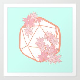 Sweet Crit: Cherry Blossom D20 Art Print