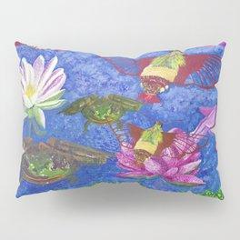 Hummingbird Moth and Frog Pillow Sham