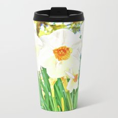 Bright Spring Narcissus Metal Travel Mug