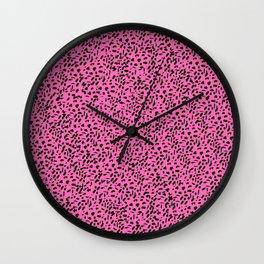 Lovely leopard pink Wall Clock