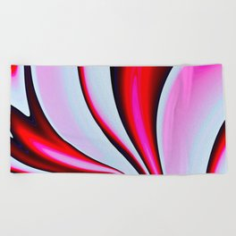 Abstract Fractal Colorways 02BPk Beach Towel