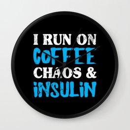 Funny Diabetes Coffee Chaos Insulin Diabetic Wall Clock