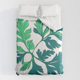 Turquoise Vintage Leaves Comforters
