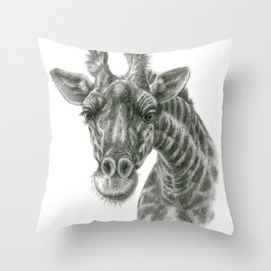 The giraffe G2012-049 Throw Pillow