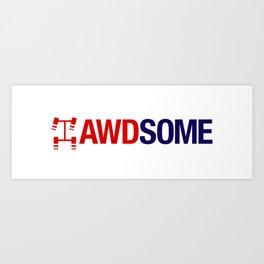 AWDSOME v2 HQvector Art Print