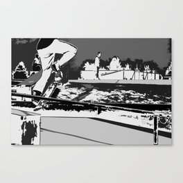 Off the Rails   - Skateboarder Canvas Print