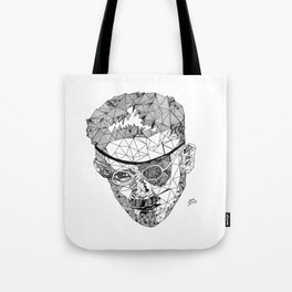 James Joyce - Hand-drawn Geometric Art Print Tote Bag
