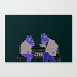 A two horse race Canvas Print