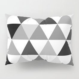 Black and white triangles Pillow Sham