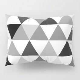 Black and white triangles Pillow Sham