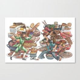 Clash of Food Cultures Canvas Print