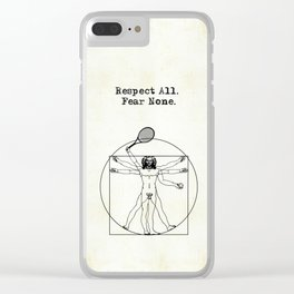 Vitruvian Tennis Player - perfect as a gift for tennis fans. Clear iPhone Case