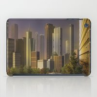 cityscape iPad Cases featuring Cityscape by Viggart
