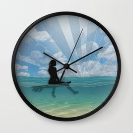 View from a Surfboard Wall Clock