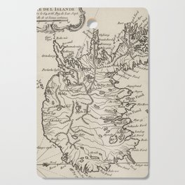 Vintage Map of Iceland (1764) Cutting Board