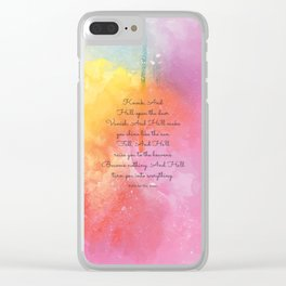 Knock, And He'll open the door. Jalal Ad-Din Rumi Clear iPhone Case
