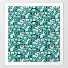 BMO patterns Art Print