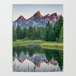 Grand Teton National Park Sunrise Reflection Poster