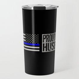Police: Proud Husband (Thin Blue Line) Travel Mug