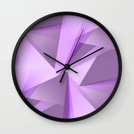 Meditation - Purple Abstract Wall Clock