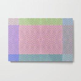 1806 Pastel pattern Metal Print