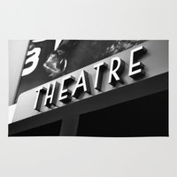 theatre Area & Throw Rugs featuring Theatre Sign by Griffin Lauerman