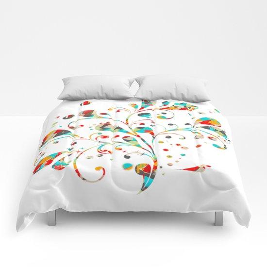 motif floral color 4 Comforters