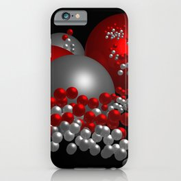 3D in red, white and black -10- iPhone Case