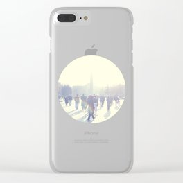 White İstanbul Clear iPhone Case