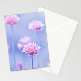 Allium pink macro 087 Stationery Cards