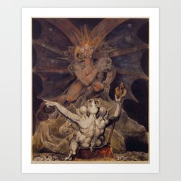 The number of the beast is 666 by William Blake Art Print