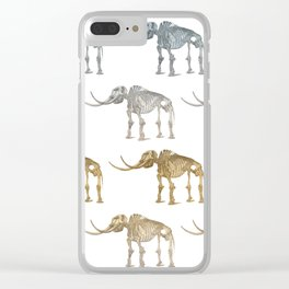 Mastodon skeleton - pattern Clear iPhone Case