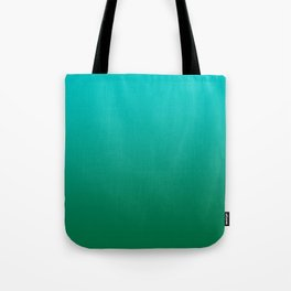 Cyan to Cadmium Green Linear Gradient Tote Bag
