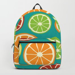 citrus pattern Backpack