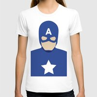 captain silva T-shirts featuring Captain by Mi Absurda Osadía