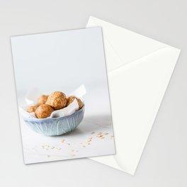 Peanut Apple And Raisin Oat Balls, Food Photography Cuisine Print, Morning Energy Breakfast, Natural Light, Oatmeal Granola Homemade Snack Stationery Cards