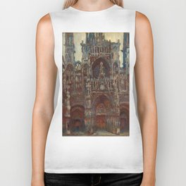 """Claude Monet """"Rouen Cathedral, evening harmony in brown"""" Biker Tank"""