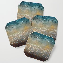 Landscape Dots - Turquoise Coaster