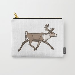 Geometric Reindeer / Caribou Carry-All Pouch