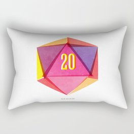 Rolling D20's Like A Big Shot  Rectangular Pillow