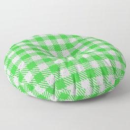 Lime Green Buffalo Plaid Floor Pillow