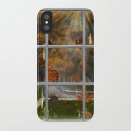 One Rainy Day In The Fall - Painting iPhone Case