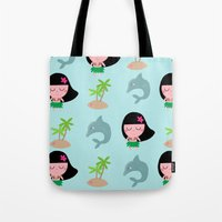 hawaii Tote Bags featuring hawaii by Sucoco