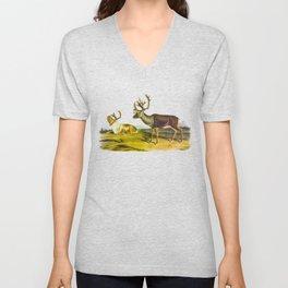 Caribou, or American Reindeer Unisex V-Neck