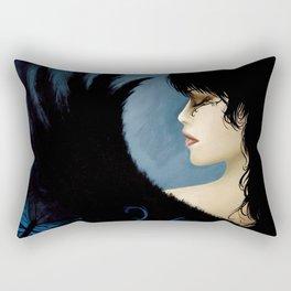 Dark Blue Angel Rectangular Pillow