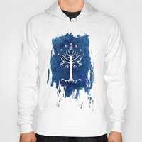 aragorn Hoodies featuring The White Tree by Jackie Sullivan