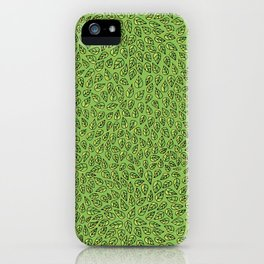 Hand drawn leaves iPhone Case