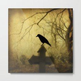 Vintage Crow Metal Print
