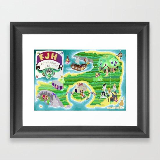 FJH ✮ Cartography EP Framed Art Print